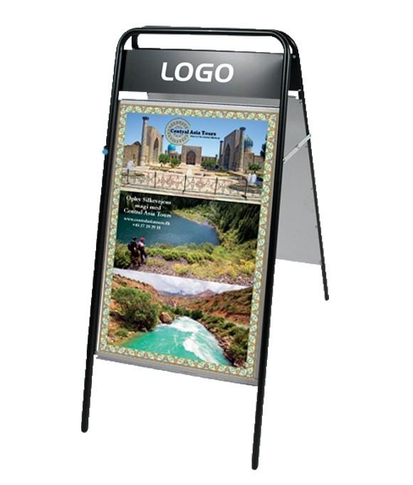 Gadeskilte Expo Sign Med Logoplade M90106