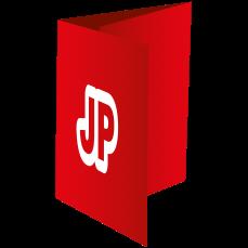 Vis detaljer | Foldere, 3-fløjet, A5 Tværformat, 4+4